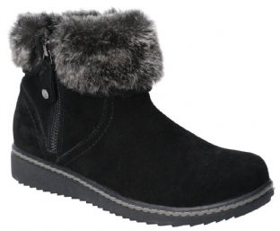 Hush Puppies Penny Black Suede Womens Boots